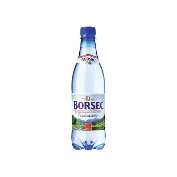 Borsec - Apă minerală carbogazoasă PET 0,5 l.