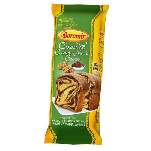Boromir - Cozonac cu cacao și nucă 400 gr.